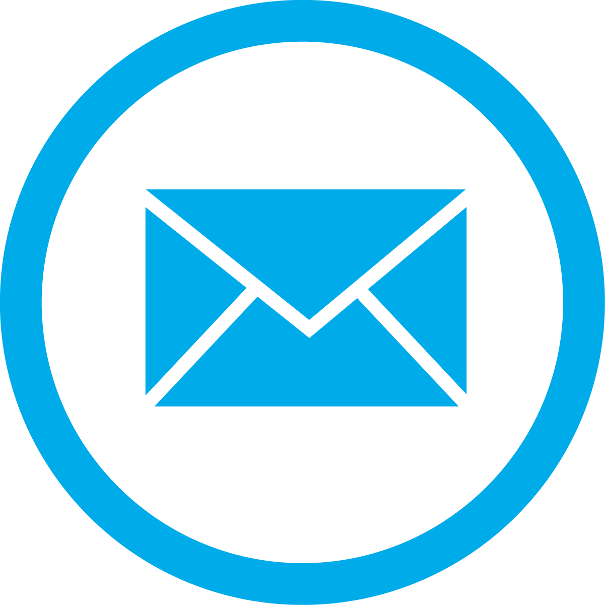 blue email box circle png transparent icon from freepnglogos.com